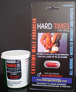 Get Hard Times for Men in a single pack or a multipack bottle
